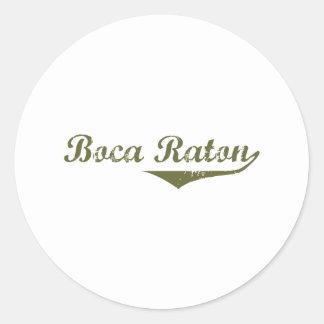 Camisetas de la revolución de Boca Raton Pegatinas Redondas