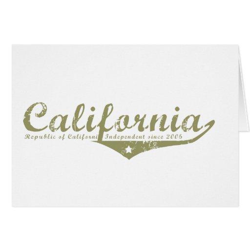 Camisetas de la revolución de California Tarjetón