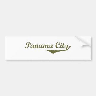 Camisetas de la revolución de ciudad de Panamá Etiqueta De Parachoque