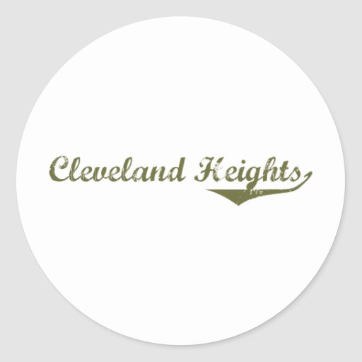Camisetas de la revolución de Cleveland Etiqueta Redonda