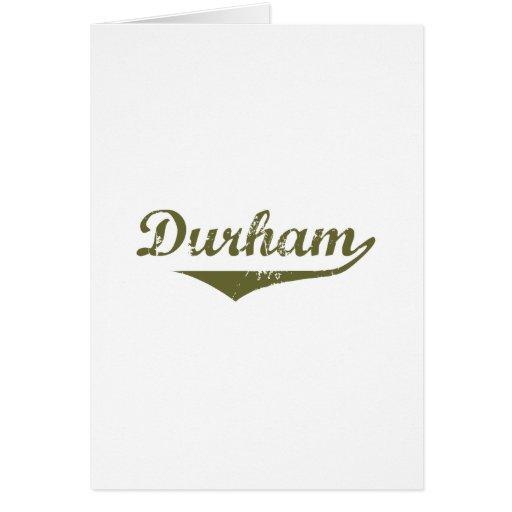 Camisetas de la revolución de Durham Tarjetón