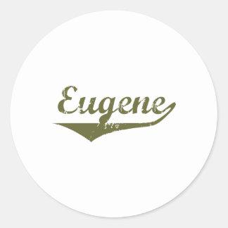 Camisetas de la revolución de Eugene Etiqueta
