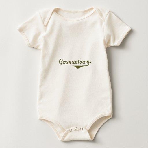 Camisetas de la revolución de Germantown Mameluco