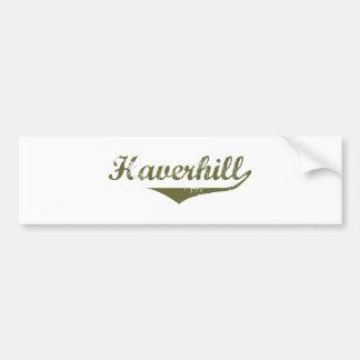Camisetas de la revolución de Haverhill Etiqueta De Parachoque