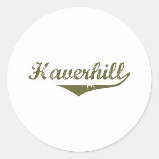 Camisetas de la revolución de Haverhill Pegatinas Redondas