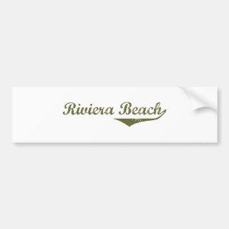 Camisetas de la revolución de la playa de Riviera Pegatina Para Auto
