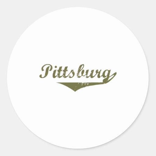 Camisetas de la revolución de Pittsburg Pegatina Redonda
