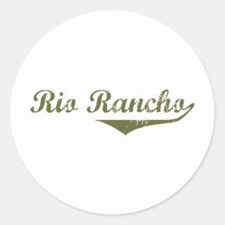 Camisetas de la revolución de Río Rancho Etiquetas Redondas