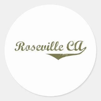 Camisetas de la revolución de Roseville Etiquetas Redondas