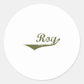 Camisetas de la revolución de Roy Etiqueta Redonda