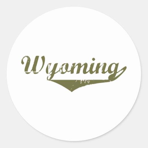 Camisetas de la revolución de Wyoming Pegatina Redonda