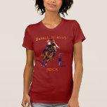 Camisetas de la roca de los caballos del barril