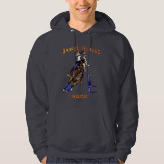 Camisetas de la roca de los caballos del barril sudadera