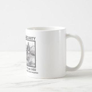 Camisetas de la seguridad de patria del nativo taza de café