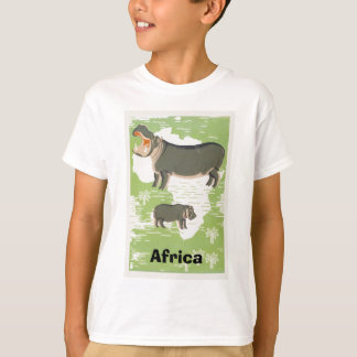 Camisetas de la selva del hipopótamo del