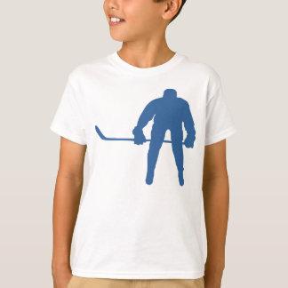 Camisetas de la silueta del hockey playera