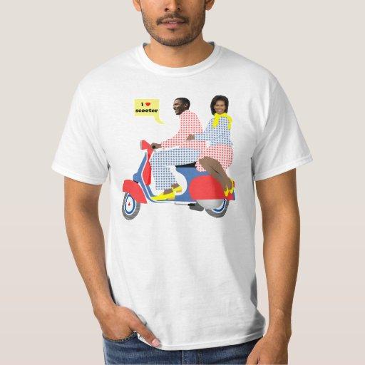 Camisetas de la VESPA del CORAZÓN de OBAMA
