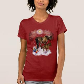 Camisetas de la yegua y del potro de Chirstmas Playera