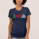 Camisetas de las ballenas del amor de la paz, taza