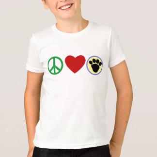 Camisetas de las patas del perrito del amor de la