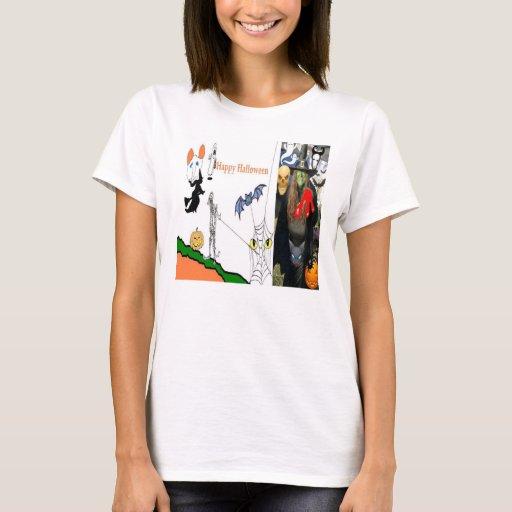 Camisetas de las señoras de la bruja de Halloween