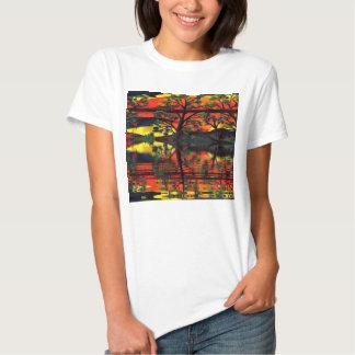 Camisetas de las señoras del colector rizado de camisas