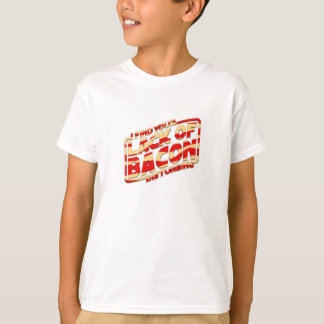 camisetas de las tiras de tocino