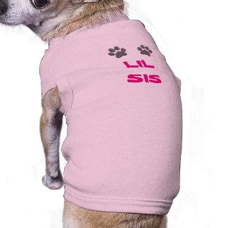 Camisetas de LIL SIS para el perro con las patas Playera Sin Mangas Para Perro