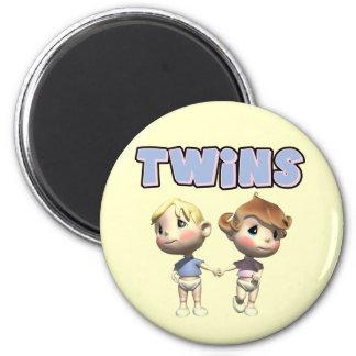 Camisetas de los gemelos de los niños y regalos de iman de nevera
