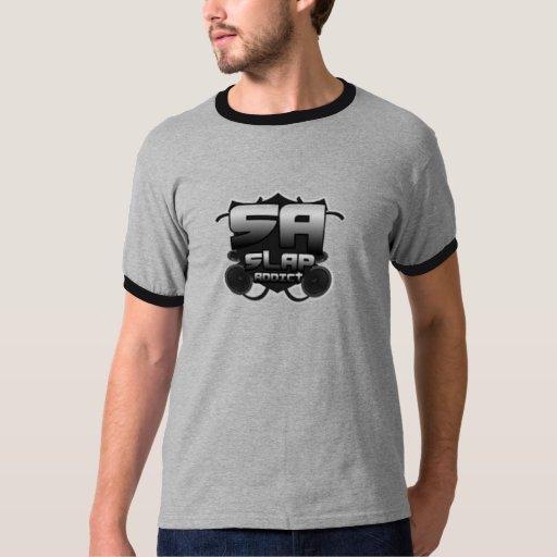 Camisetas de los hombres del adicto a la palmada camisas