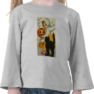 Camisetas de los niños de Halloween del vintage de