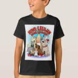 Camisetas de los niños del navidad de los perros playeras