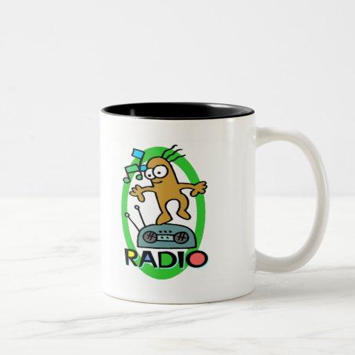 Camisetas de los niños y regalos de radio de los taza de dos tonos