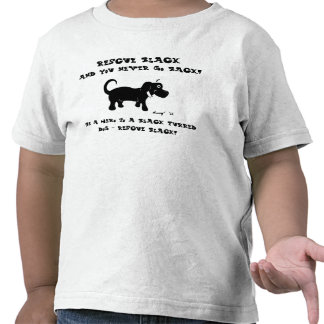 Camisetas de los perros negros del rescate