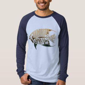 Camisetas de los pescados de Steampunk Remeras