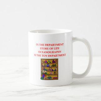 Camisetas de los regalos de la OCEANOGRAFÍA Taza De Café