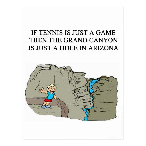 Camisetas de los regalos del jugador de tenis tarjeta postal