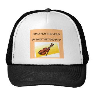 camisetas de los regalos del jugador del violín gorras