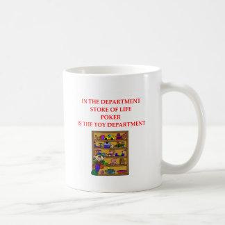 Camisetas de los regalos del PÓKER Taza Clásica