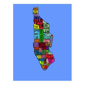 Camisetas de Manhattan NYC del codificado por Postal