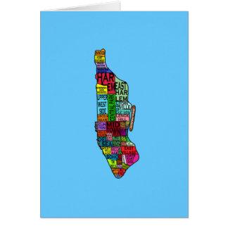Camisetas de Manhattan NYC del codificado por Tarjeta De Felicitación