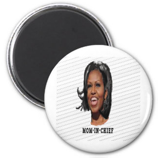 Camisetas de Michelle Obama Imán Redondo 5 Cm