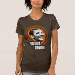 Camisetas de Obama del vintage, colores africanos