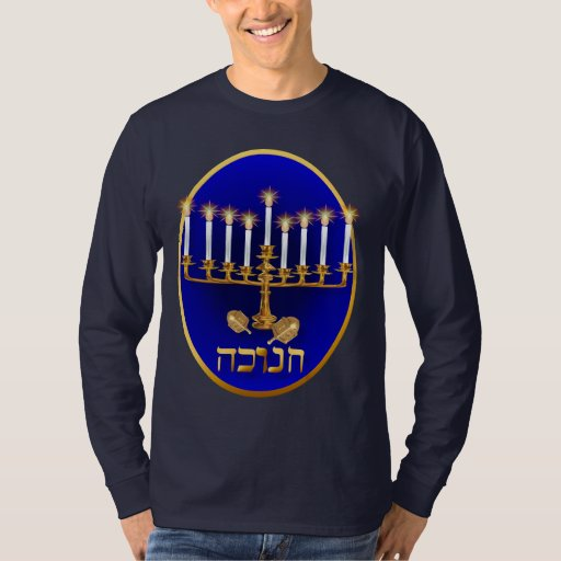 Camisetas de oro del óvalo de Jánuca
