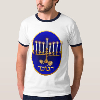 Camisetas de oro del óvalo de Jánuca Playeras