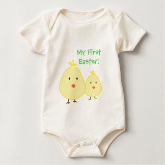 Camisetas de Pascua del niño del polluelo del bebé Mamelucos