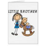 Camisetas de pequeño Brother del caballo mecedora Felicitacion