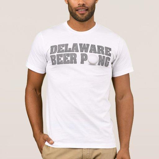 Camisetas de Pong de la cerveza de Delaware