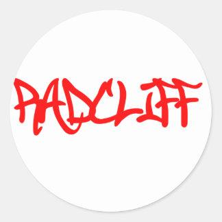 Camisetas de Radcliff Pegatina Redonda