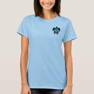 Camisetas del 2-Sided de las mujeres de la tortuga